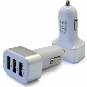 Chargeur allume cigare avec 3 ports USB -