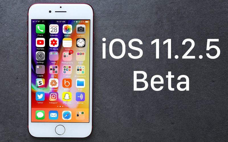 Nouvelle version Bêta d'IOS 11.2.5