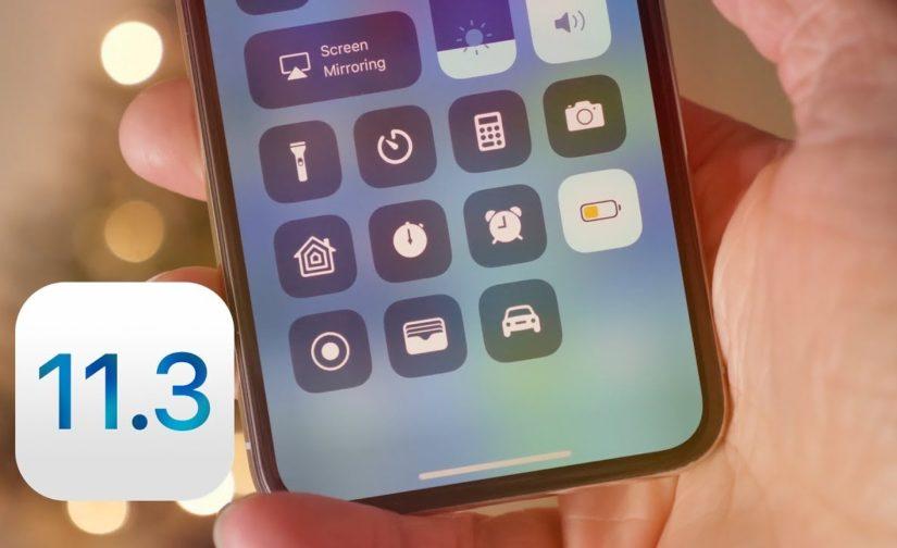 Du nouveau concernant iOS 11.3