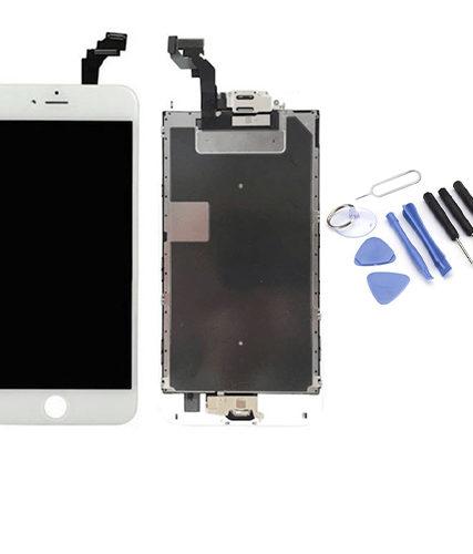 Écran de remplacement + vitre tactile sur châssîs Tout Assemblé complet pour iPhone 6S blanc + Kit 9 OUTILS