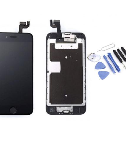 Écran de remplacement + vitre tactile sur châssîs Tout Assemblé complet pour iPhone 6S noir + Kit 9 OUTILS