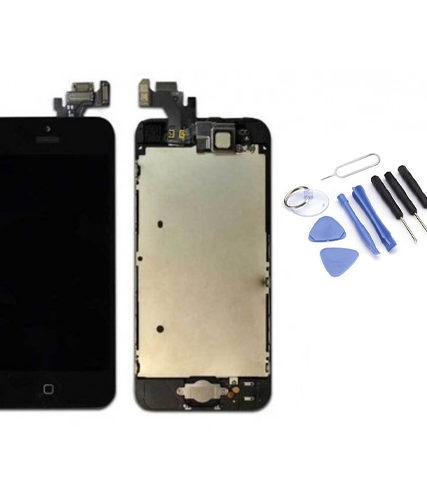Ecran de remplacement + vitre tactile sur châssîs Tout Assemblé complet pour iPhone 5 noir + Kit 9 OUTILS