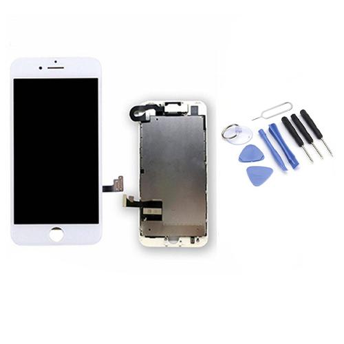 Écran iPhone 7 blanc de remplacement complet + OUTILS