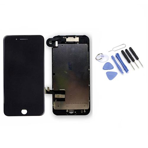 Écran de remplacement + vitre tactile sur châssis Tout Assemblé complet pour iPhone 7 noir + Kit 9 OUTILS