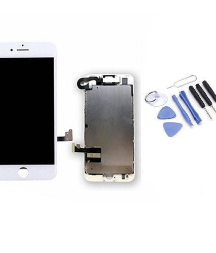Écran de remplacement + vitre tactile sur châssis Tout Assemblé complet pour iPhone 7 plus blanc + Kit 9 OUTILS