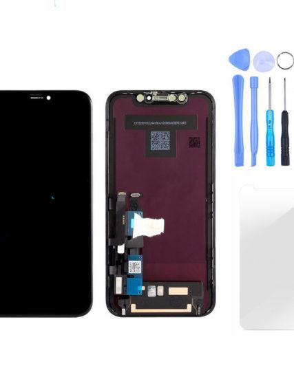 Écran iPhone XR noir ORIGINAL APPLE OLED+Tactile + Kit outils + Verre trempé