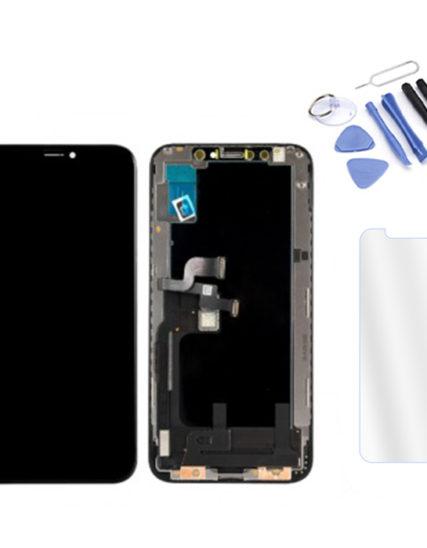 Écran iPhone XS noir ORIGINAL APPLE OLED+Tactile + Kit outils + Verre trempé