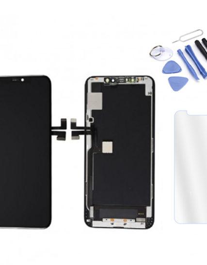 Écran iPhone 11 PRO noir Premium OLED HARD+Tactile + Kit outils + Verre trempé