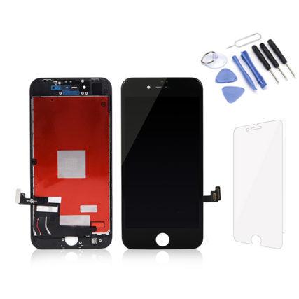 Écran iPhone 8G noir Premium LCD+Tactile + Kit outils + verre trempé