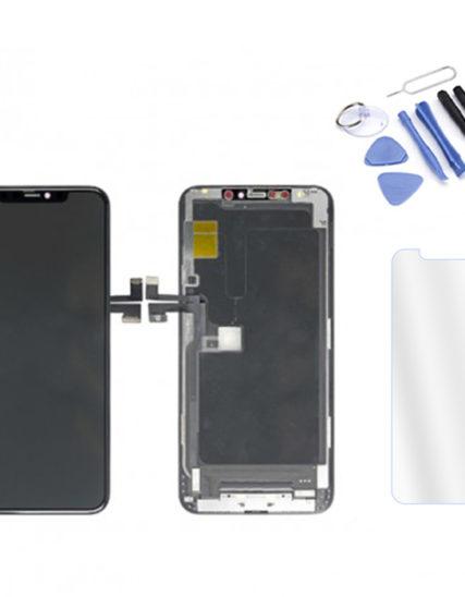 Écran iPhone 11 PRO MAX noir ORIGINAL APPLE OLED+Tactile + Kit outils + Verre trempé